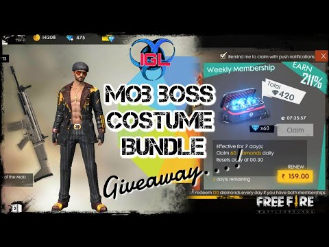 IGL FREEFIRE MOB BOSS COSTUME BUNDLE SET GIVEAWAY!! PARTICIPATE AND GET YOUR ENTRIES HERE!!