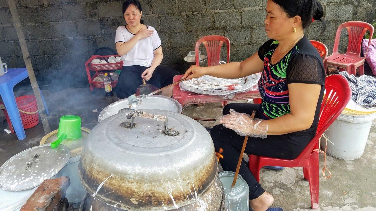 Thái bình quê lúa/Quán bánh cuốn vệ đường làng quê dân dã mộc mạc ngon bổ rẻ.