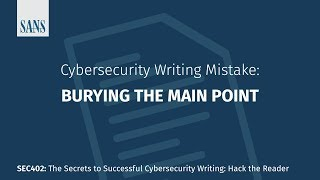 Top 10 Cybersecurity Writing Mistakes thumb