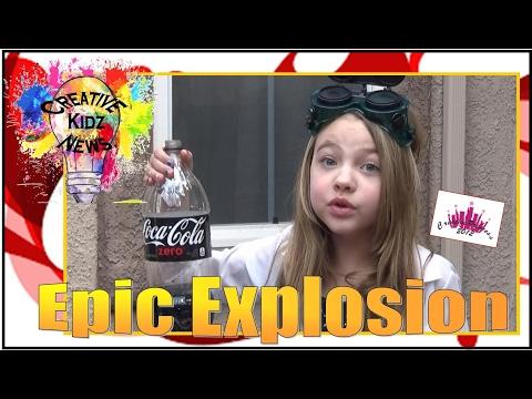 Mentos and Coke Challenge, Epic Explosion Creative Kidz News - Creative Princess