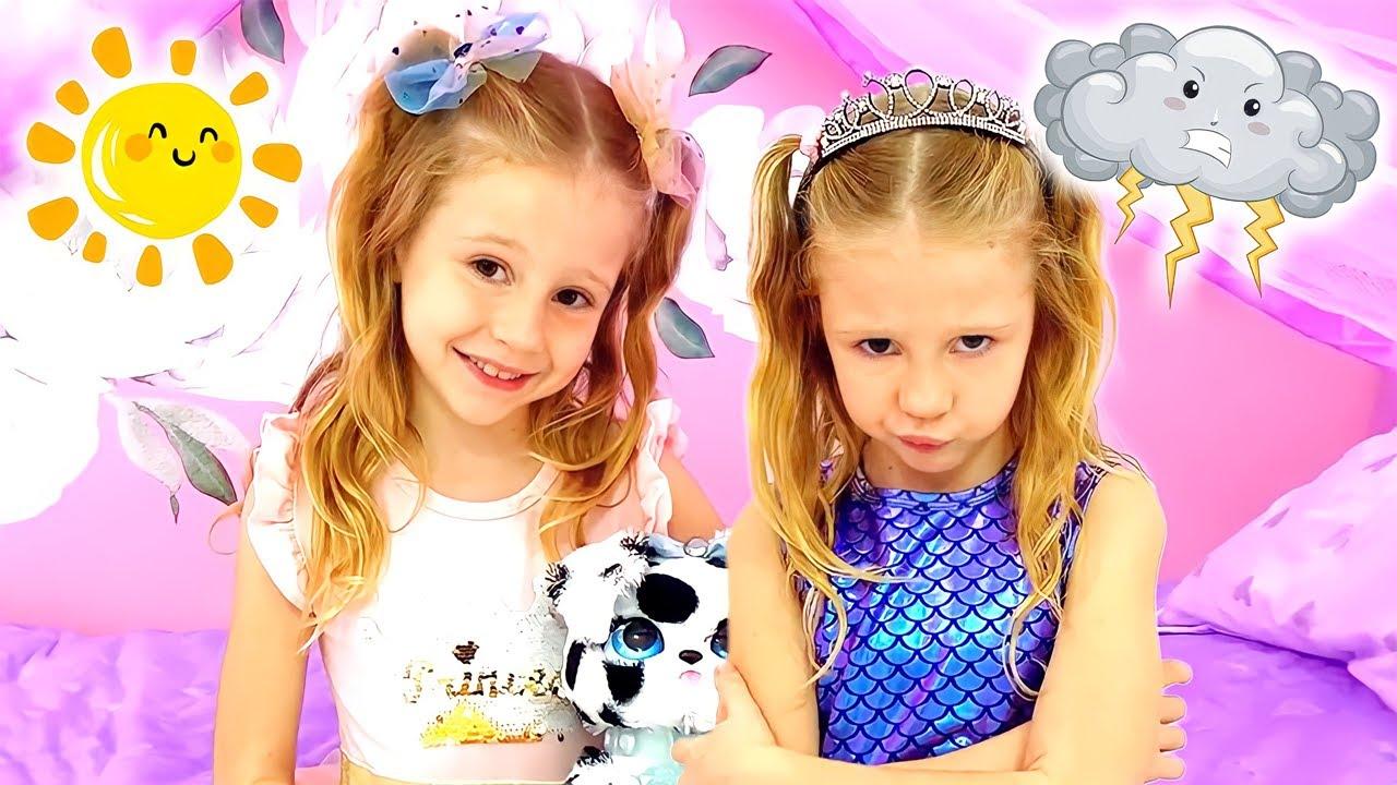 Nastya y Stacy muestran buenos y malos comportamientos para los niños