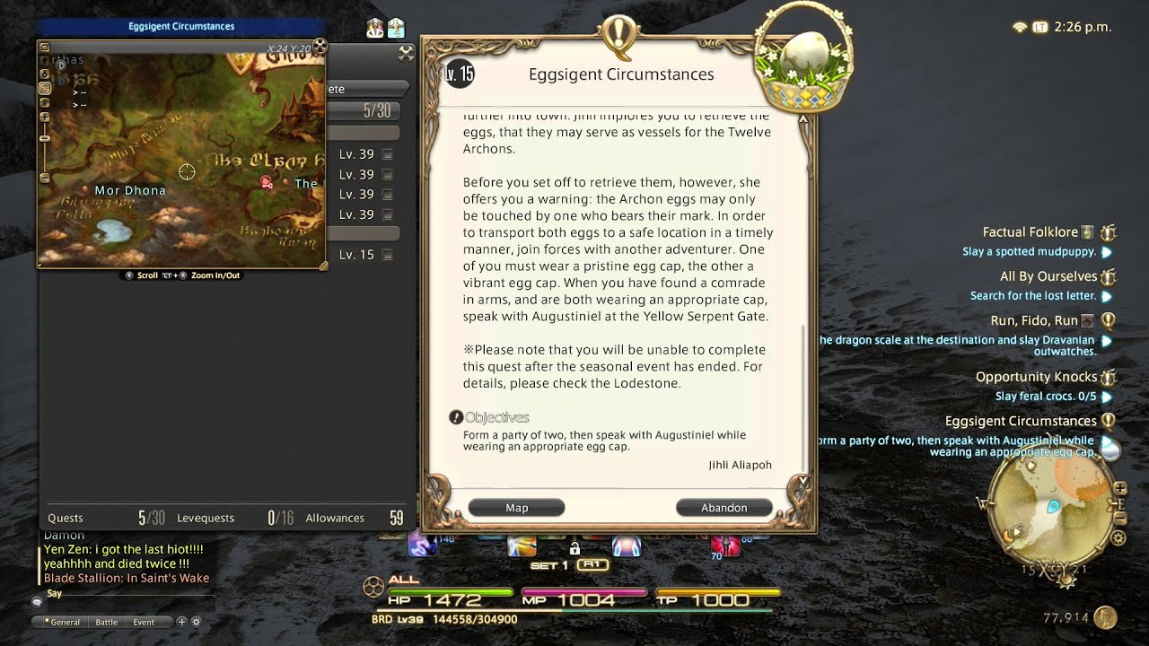 Final Fantasy XIV PS4 Tips: Controlling the Map