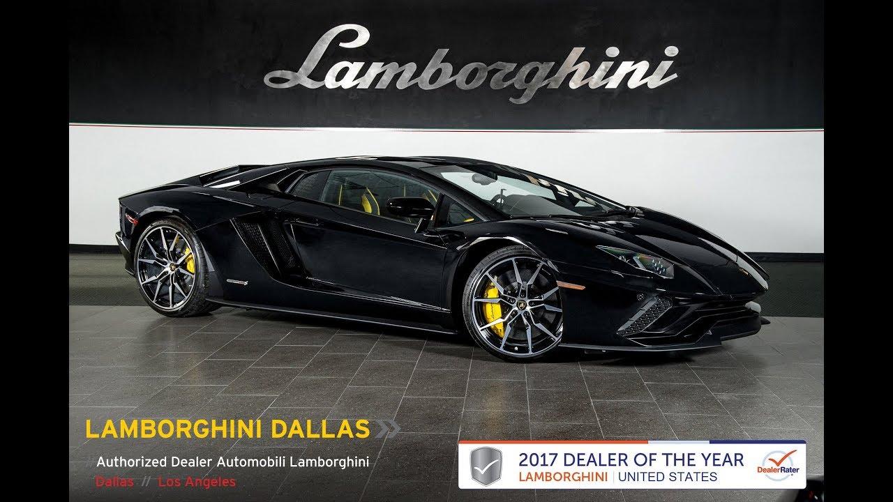 2018 Lamborghini Aventador S Nero Aldebaran 18l0055 Youtube