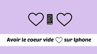 Avoir Le Coeur Vide Sur Iphone Ipad Ipod Youtube