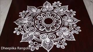 Navarathri special rangoli2019 || Diwali festival special kolam designs || deepavali muggulu