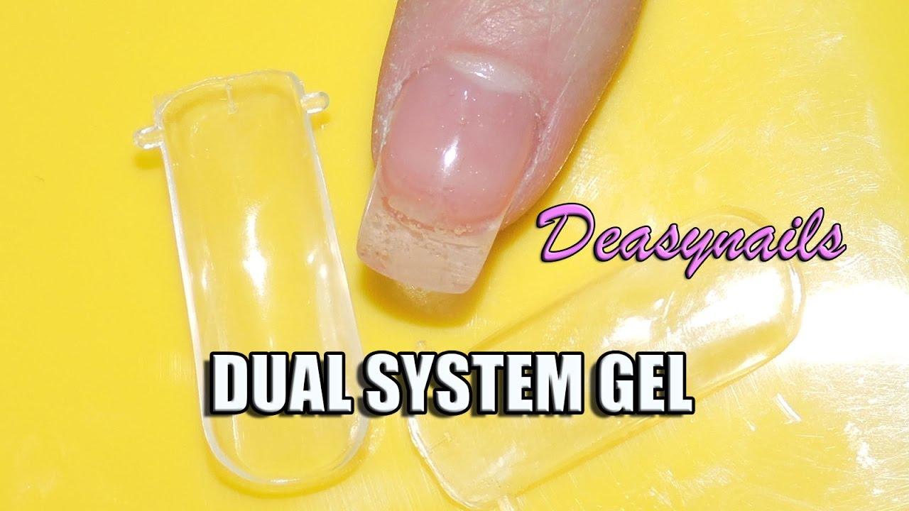 DUAL SYSTEM FORM CON GEL tutorial uñas de gel principiantes ...