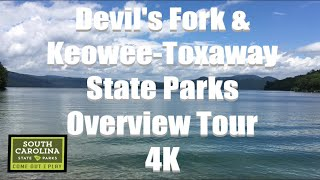 South Carolina State Paŗks Overview Tour   Devil's Fork and Keowee-Toxaway Park   4K