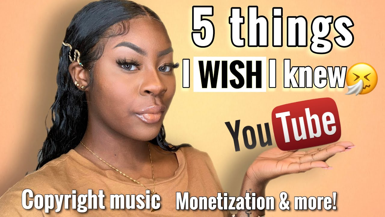 5 Things I WISH I Knew Before Starting a YOUTUBE CHANNEL| 2020