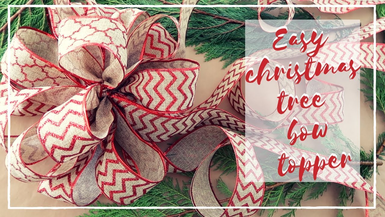 HOW TO MAKE AN EASY CHRISTMAS TREE BOW