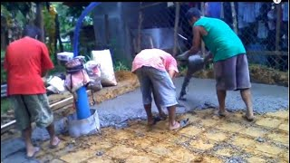 Building a house in Southern Leyte Philippines part 12. The kitchen floor.