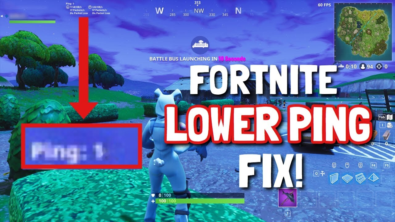 FORTNITE LOWER PING ! (Ping fix PS4/Xbox One/PC/IOS/Android)