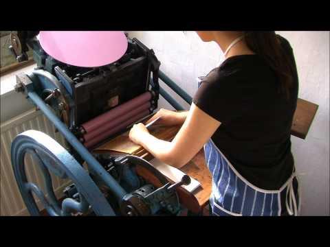 Letterpress and linoleum carving