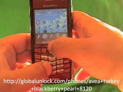 Avea Turkey Blackberry Pearl 8120 Unlock Instructions