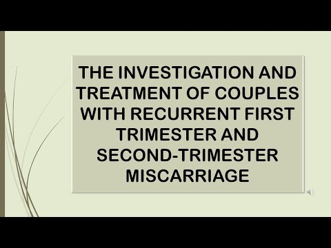 RCOG Guideline INVESTIGATION & TREATMENT OF COUPLES WITH RECURRENT MISCARRIAGE Part 1