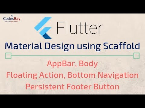 Flutter: Material Design Using Scaffold (AppBar, Body Floating action etc)