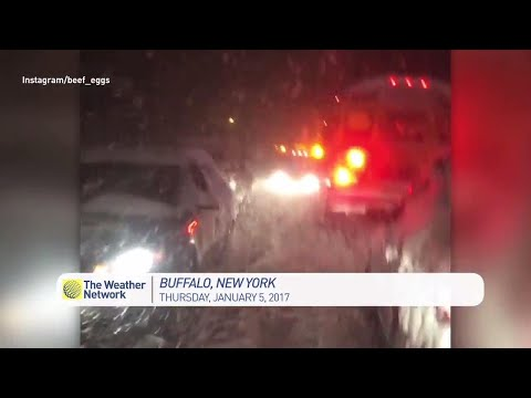 Abandoning vehicle in Buffalo, NY snowfall
