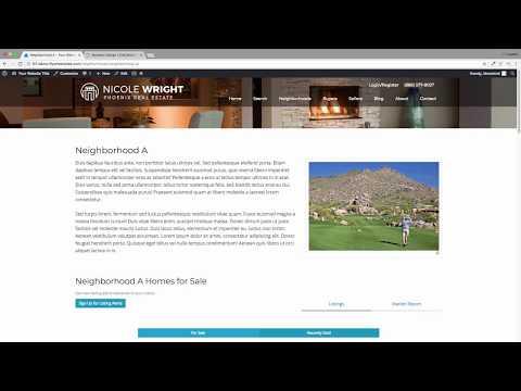 How To Build Neighborhood Pages With IHomefinder IDX