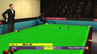 A game of snooker with my boy on WSC Real 2009