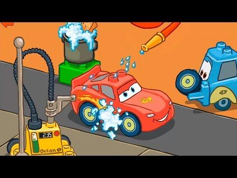 Мультики про машинки для детей Гонки наперегонки. Видео для детей про лего тачки.