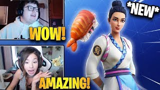 STREAMERS REACT TO *NEW* MAKI MASTER SKIN! *RARE* | Fortnite Highlights & Funny Moments