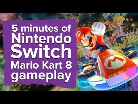 5 minutes of Mario Kart 8 Nintendo Switch gameplay - battle mode