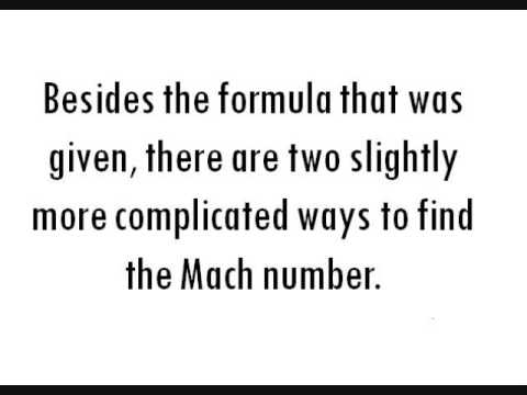 how to find mach number