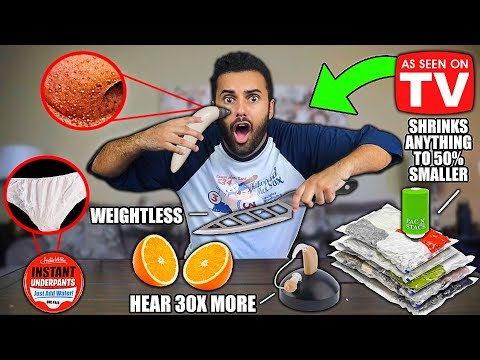 Trying 5 UNBELIEVABLE AS SEEN ON TV Products From AMAZON 3!! THEY ACTUALLY WORKED!!
