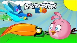 Angry Birds Rio: Timber Tumble Level 7-10 3-Stars Walkthrough (Rio 2 Birds)