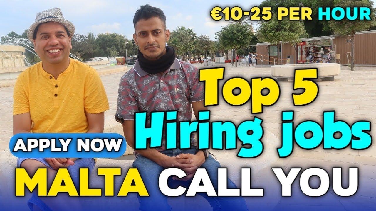 Malta Jobs for Non-EU Workers  | Apply Now | TOP 5 MALTA HIRING JOBS FOR Non-EU Workers | MALTA JOBS