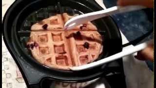 Gluten Free Vegan Lemon Chia Waffles