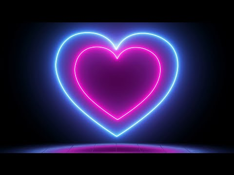 animated-video-background---saber-lighting-frame-for-edits---background-video-effects---neon-heart