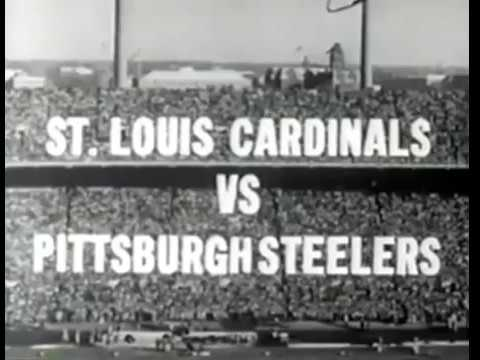 1960 St. Louis Cardinals at Pittsburgh Steelers Highlights