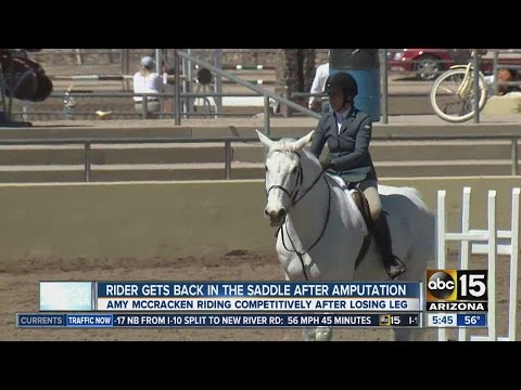 Horse rider gets back in the saddle after amputation
