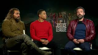 Ben Affleck, Jason Momoa Ray Fisher Justice League Interview