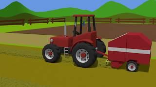 Tractor Works on The Field | Straw Pressing Machine | Traktor Prace polowe | gospodarz