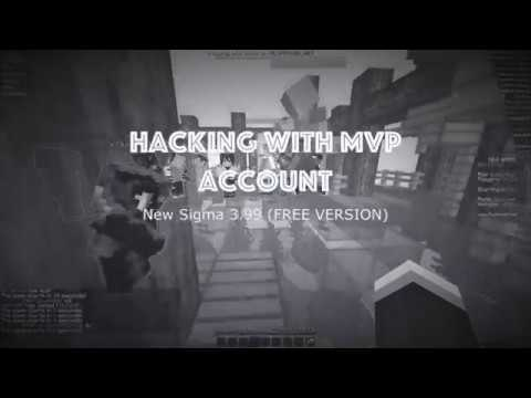 Minecraft Hypixel Hacking - MVP ACCOUNT - Sigma 3 99 (Free Version)