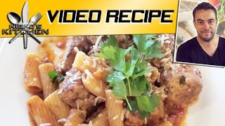 Pasta & Meatballs - Slow Cooker Recipe