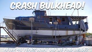 CUTTING OUR CRASH BULK HEAD - Steel Boat Adventures BRUPEG (Ep. 33)
