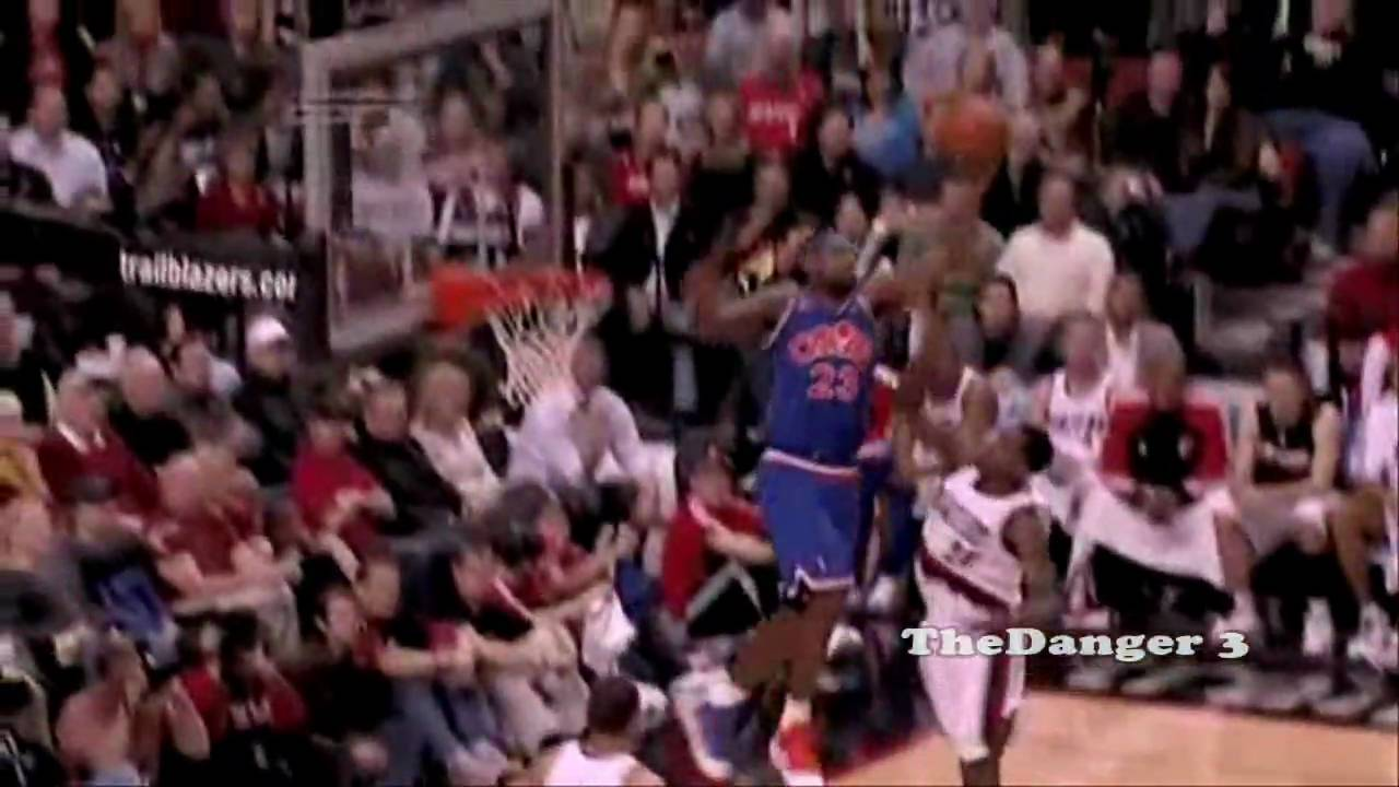 96321fdad26 Amazing LeBron James Leaping Ability How high can Lebron jump - YouTube