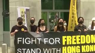 香港工会组织向G20成员国驻港领事馆递交请愿书 反对港版国安法