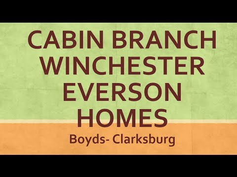 Cabin Branch Homes New Construction By Winchester And