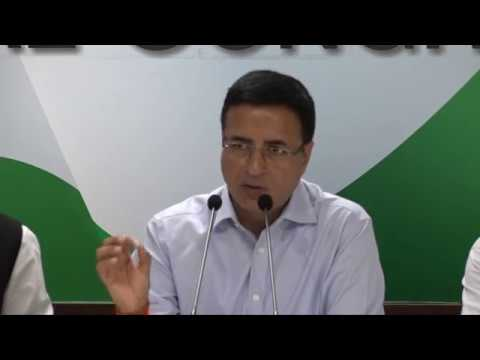 AICC Press Briefing By Randeep Singh Surjewala on SC verdict on Judge Loya death case.