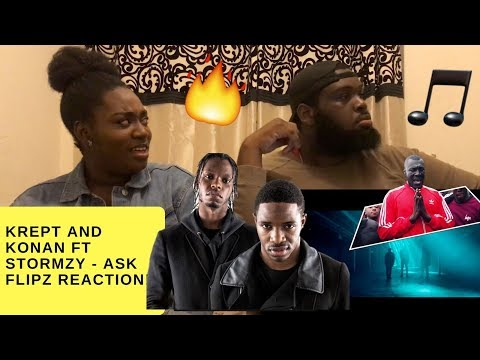 KREPT & KONAN - ASK FLIPZ FT. STORMZY (CRAZY REACTION) !!! | Lenny & Aliyah