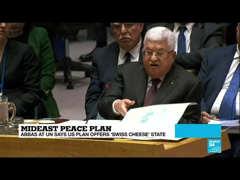 Abbas blasts Trump's plan for a 'Swiss cheese' Palestinian state in UN speech
