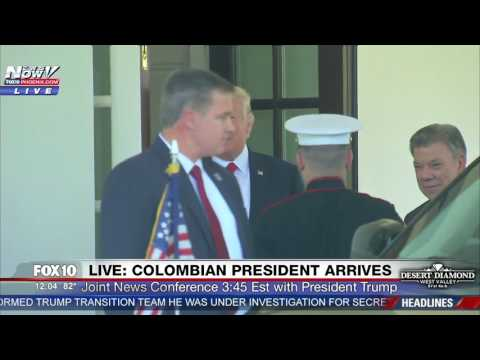 WATCH: President Trump Welcomes Colombian President To The White House (FNN)