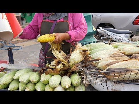 Corn BBQ in Husk | Thai Street Food