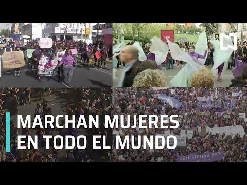 Mujeres de todo el mundo marchan en el Día Internacional de la Mujer - Las Noticias