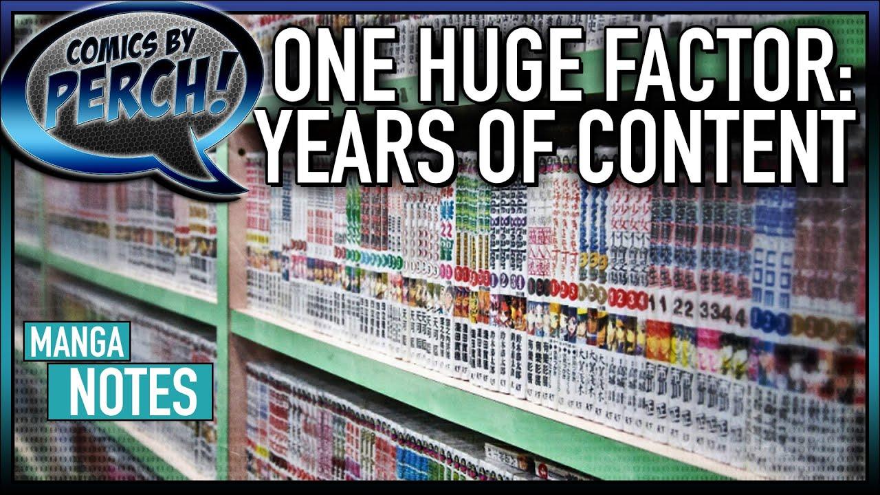 Years of content: a Manga advantage