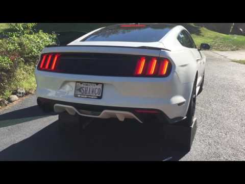 2015-2017 Mustang GT Solo Performance Street Race Exhaust First Start Up And Revs LOUD!! Black Tips
