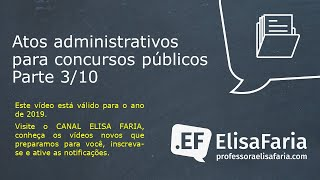 AULA 061 - Atos Administrativos parte 3